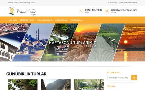 Screenshot of Home Page premier-tour.com - Premier Turizm   Yurt İçi ve Yurt Dışı Turları - Giriş - captured May 25, 2016