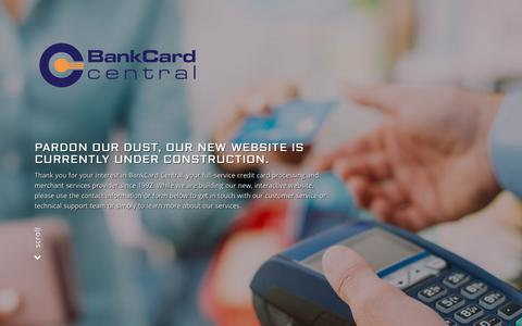 Screenshot of Home Page bankcardcentral.com - Bank Card Central – Credit Card Processing and Merchant Services - captured Nov. 6, 2018