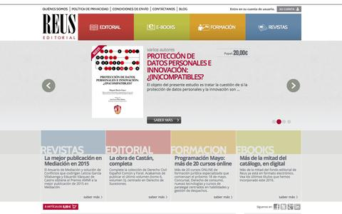 Screenshot of Home Page editorialreus.es - Editorial Reus | Libros, ebooks, revistas y formación especializada en Derecho desde 1852 - captured July 11, 2016