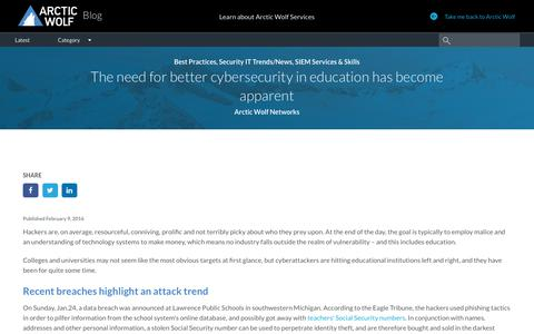 The need for better cybersecurity in education has become apparent