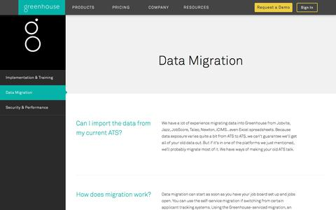 Recruiting Software Data Migration | Greenhouse