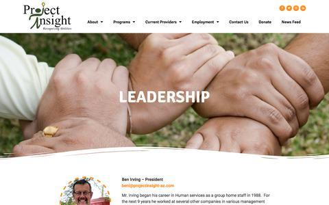 Screenshot of Team Page projectinsight-az.com - Leadership – Project Insight - captured July 6, 2019