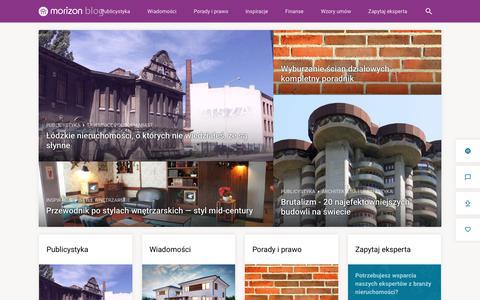 Screenshot of Blog morizon.pl - Blog nieruchomości | Porady ekspertów | Aranżacje wnętrz | Blog Morizon - captured July 2, 2017