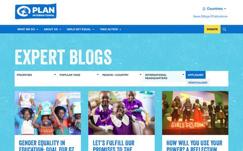 Screenshot of Blog plan-international.org - Expert Blogs | Plan International - captured Oct. 2, 2019