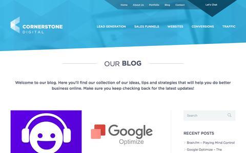 Screenshot of Blog cornerstone-digital.com.au - Blog | Cornerstone Digital - captured Aug. 26, 2017