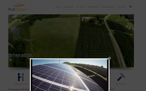 Screenshot of Home Page flsenergy.com - FLS Energy | North Carolina Solar Energy Company | Experienced Solar Farm Developer - captured Feb. 15, 2016