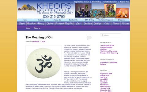 Screenshot of Blog kheopsinternational.com - Kheops International - captured Sept. 19, 2014