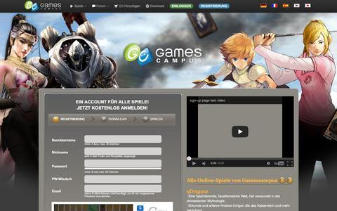 Screenshot of Signup Page gamescampus.eu - Gamescampus | Spielspass fuer alle! - captured Feb. 14, 2016