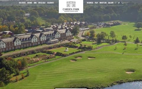 Screenshot of Home Page cardenpark.co.uk - Carden Park | Luxury Country Hotel in Cheshire | Near Chester - captured June 17, 2015
