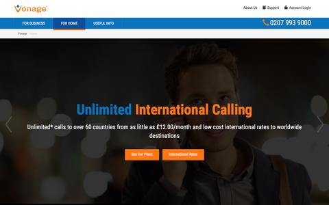 Cheap UK and International Calls - Vonage