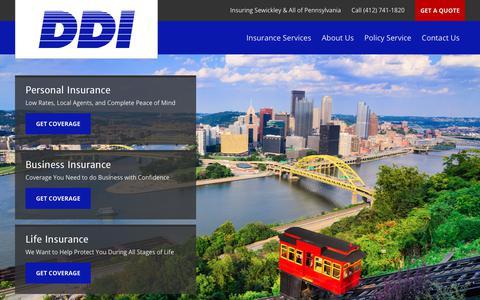 Screenshot of Home Page daviesinsurance.com - Insuring Sewickley & Pennsylvania | Davies & Davies Insurance Inc. - captured Oct. 12, 2017