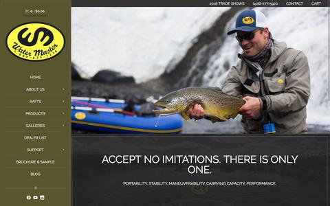 Screenshot of Home Page bigskyinflatables.com - Fly Fishing Inflatable Rafts & Boats - Water Master - captured June 29, 2018