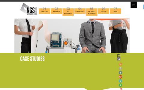 Screenshot of Case Studies Page nationalglazingsolutions.com - Case Studies - National Glazing Solutions - captured Nov. 4, 2017