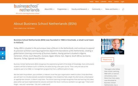 Screenshot of About Page bsn.eu - About BSN - BSN - Business School Netherlands - captured May 29, 2017