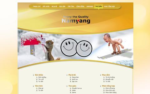Screenshot of Site Map Page namyangi.com.vn - Sitemap - captured Oct. 7, 2014