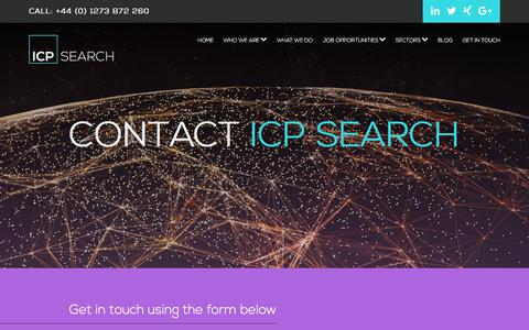Screenshot of Contact Page icpsearch.com - Contact ICP Search - captured July 25, 2018