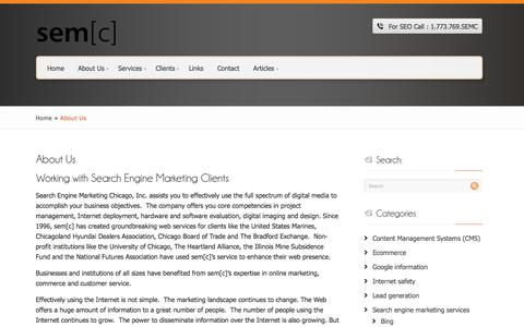 Screenshot of About Page searchenginemarketingchicago.com - About Search Engine Marketing Chicago, Inc. - captured Sept. 29, 2017