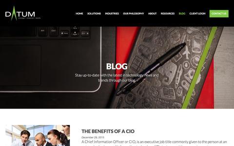 Screenshot of Blog datumcorporation.com - Blog | DATUM Corporation - captured Jan. 7, 2016