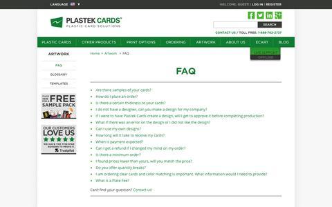 FAQ  |  Plastek Cards | Promotional Plastic Card Printing & Manufacturing