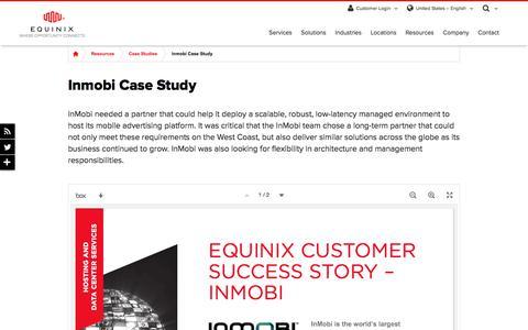 Screenshot of Case Studies Page equinix.com - Inmobi Case Study   Equinix - captured Dec. 29, 2017