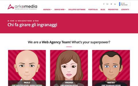 Screenshot of Team Page arkomedia.it - Team - Web Agency Roma - captured Nov. 6, 2018