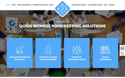 Screenshot of Home Page qbbs.com.au - QBBS - Quickbooks Online Accounting Help in Victoria - captured Sept. 9, 2017