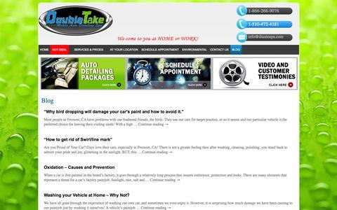 Screenshot of Blog dtautospa.com - Blog - captured Oct. 5, 2014