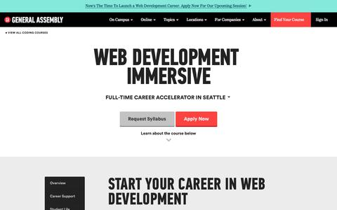 Become a Web Developer - Training from Industry | General Assembly