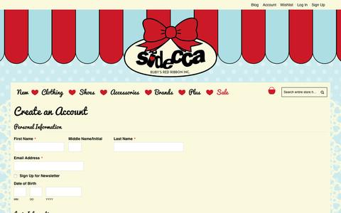 Screenshot of Signup Page sidecca.com - Create New Customer Account - captured Aug. 13, 2016