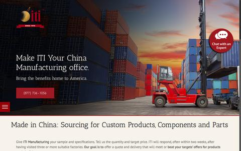 Screenshot of Products Page itimanufacturing.com - Made in China: Product Sourcing | Custom ITI Manufacturing - captured Sept. 9, 2018