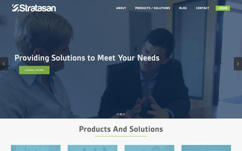 Screenshot of Home Page stratasan.com - Stratasan - Actionable Healthcare Market Intelligence - captured June 17, 2015