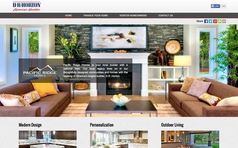 Screenshot of drhorton.com - Pacific Ridge Homes | Modern Design - captured Dec. 6, 2015