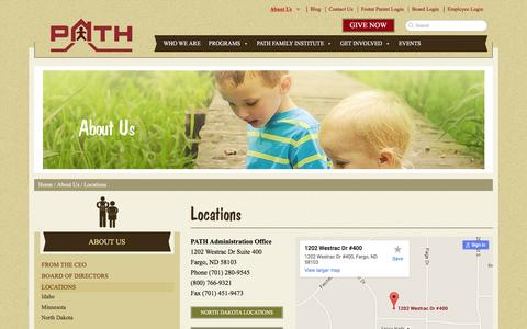 Screenshot of Locations Page pathinc.org - Locations - PATH, Inc. - captured Dec. 5, 2015