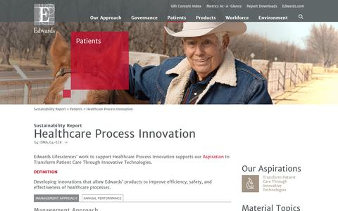 Edwards 2016 Sustainability Report   Healthcare Process Innovation