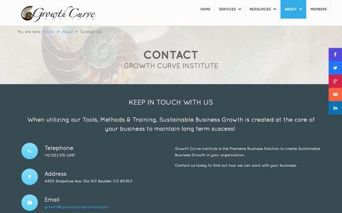Screenshot of Contact Page sustainablebusinessgrowth.com - Contact Us - captured Sept. 19, 2014