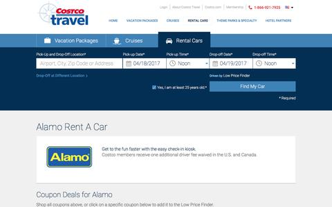 Alamo Rent A Car at Costco Travel