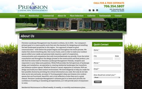 Screenshot of About Page precisionlandscapega.com - About Us - Precision Landscape Management | Precision Landscape Management - captured Oct. 3, 2014