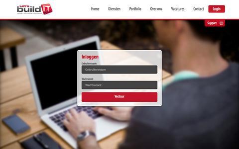 Screenshot of Login Page letsbuildit.nl - Let's build IT - Webdevelopment & Webdesign | Hoorn - West-Friesland - captured Sept. 29, 2014