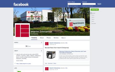 Screenshot of Facebook Page facebook.com - Imprint Enterprises - Aurora, Illinois - Company | Facebook - captured Oct. 23, 2014