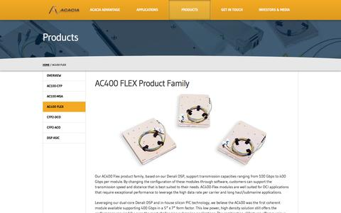 AC400 FLEX Product Family - Acacia Communications