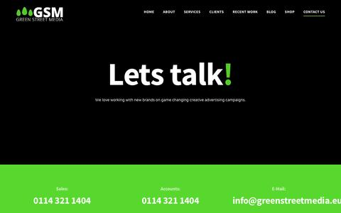 Screenshot of Contact Page greenstreetmedia.eu - Contact Us - Green Street Media - captured May 24, 2017