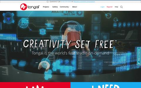 Screenshot of About Page tongal.com - Create Original Video Content - TV Ads, YouTube, Branded & Social Videos - captured Nov. 10, 2015