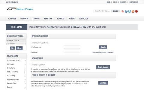 Screenshot of Login Page agency-power.com - Agency Power - captured Oct. 29, 2014