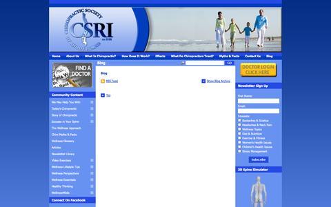 Screenshot of Blog richiro.org - Chiropractic Society Of Rhode Island | Rhode Island Chiropractors :: Blog - captured Oct. 2, 2014
