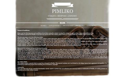 Screenshot of Terms Page pimlikojoinery.co.uk - Terms & Conditions - Pimliko joinery furniture - captured Sept. 30, 2014