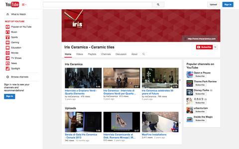 Screenshot of YouTube Page youtube.com - Iris Ceramica - Ceramic  tiles  - YouTube - captured Oct. 23, 2014