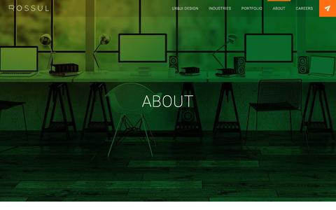 Screenshot of About Page rossul.com - UI & UX Design Agency | Our User Interface Designers - captured Jan. 11, 2016