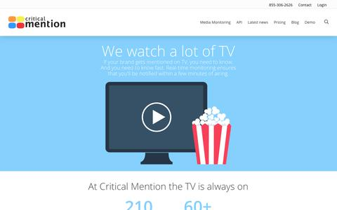 TV Monitoring - Critical Mention - Media Monitoring