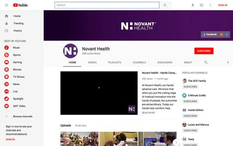 Novant Health - YouTube - YouTube