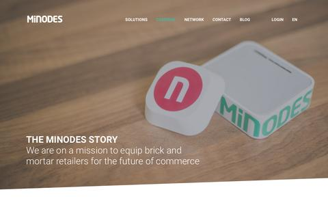 Screenshot of About Page minodes.com - Company - Minodes - captured Jan. 10, 2016